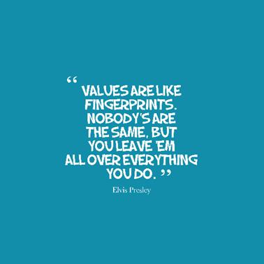 values quote